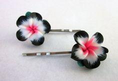 Hawaiian Flower Bobby Pin Hair Pin Flower by DiscoLemonadeDesigns, $8.00