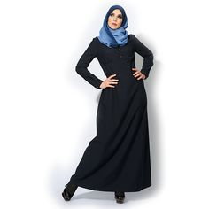 #Abaya mirabelle dark navy , Step into our enchanted world, and find the perfect #Maxi_dress and feel free with #IZZApin izzafashion.com