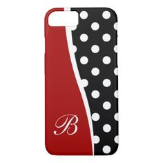 Modern Monogram Design iPhone 8/7 Case - monogram gifts unique design style monogrammed diy cyo customize