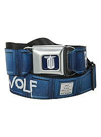 HOTTOPIC.COM - Doctor Who Bad Wolf Seat Belt Belt