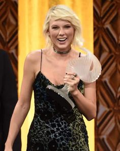 'I was really relieved that you didn't give the Taylor Swift award to someone else because I think I would have been really bummed.' BMI Awards. #taylorswift13 #BMI