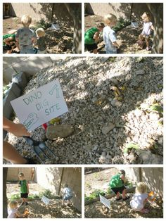 Dino Dig Site Activity as part of a whole Dinosaur themed playdate!