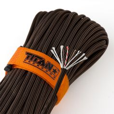 TITAN's Bronze SurvivorCord is the ultimate paracord replacement. Our exclusive patented design integrated 3 essential survival strands into our popular high-performance MIL-SPEC 550 paracord Survival Tools, Survival Prepping, Emergency Preparedness, Survival Equipment, Hiking Equipment, Survival Hacks, Teacher Survival, Tactical Survival, Survival Stuff
