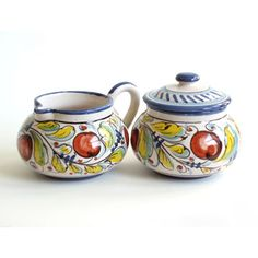 cream and sugar set  Not buying for $110, but maybe an idea for a ceramics night.