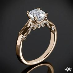 Rose gold vintage looking diamond ring <3 First ring that has made me reconsider using my great grandma's ring.