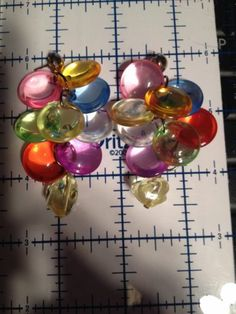 Fun Adorable Vintage 1960's Lucite Plastic Disks Long Dangle Pierced Earrings | eBay