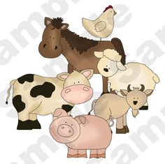 FARM BARNYARD ANIMAL COW HORSE BABY NURSERY CHILDRENS WALL MURAL STICKERS DECALS | eBay