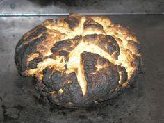 Burned bread.