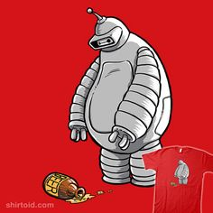 Ript Apparel: Custom T-shirts & Cheap Limited Edition Graphic Tees Futurama, Robot Tattoo, Geek Shirts, Cartoon Sketches, Geek Out, Character Design References, The Simpsons, Character Concept, Concept Art