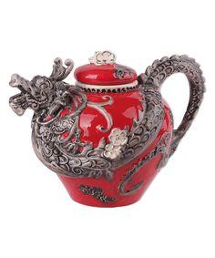 Blue Sky Red Dragon Teapot | zulily
