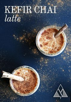 What's the best way to start the morning? Caffeine, cinnamon, a little sweet and probiotics... introducing the Kefir Chai Latte, the perfect combination!