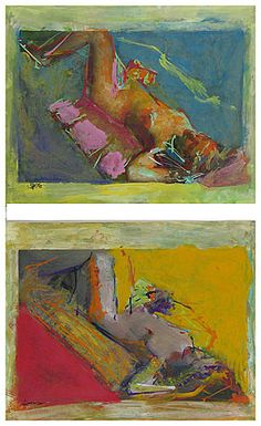 Saul Leiter/                                       For additional works: INQUIRE37/37 Print    Untitled (diptych), c.1958/  Gouche and watercolor over two gelatin silver photographs; printed c.1958 and painted 1980's