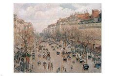 BOULEVARD MONTMARTRE IN PARIS fine art painting poster CAMILLE PISSARO 24X36