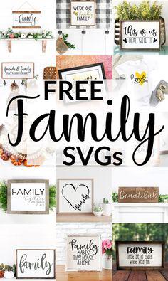 Cricut Svg Files Free, Cricut Fonts, Cricut Vinyl, All Family, Family Signs, Cricut Explore Projects, Cricut Help, Cricut Monogram, Crafty Craft
