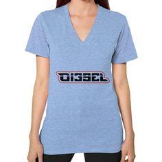 Di3seL Logo(Red Variant) V-Neck (on woman) Shirt