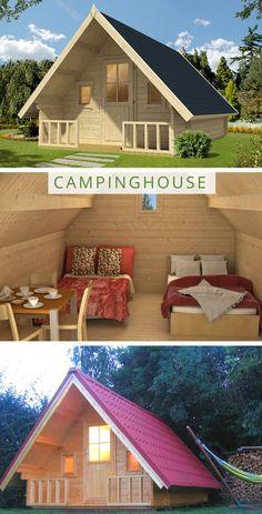 Tiny House Hotel, Tiny House Cabin, Tiny House Design, New House Plans, Small House Plans, Prefab Cabins, Log Cabins, Backyard Hammock, A Frame House