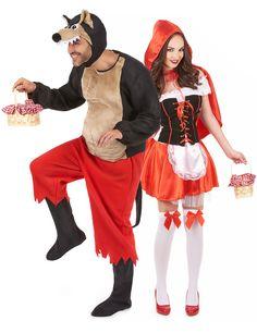 Déguisement couple du chaperon rouge et du grand méchant loup : Déguisement grand méchant loup chaperon rougeCe déguisement officiel du loup dans lepetit chaperon rougese composed'un haut tout doux...
