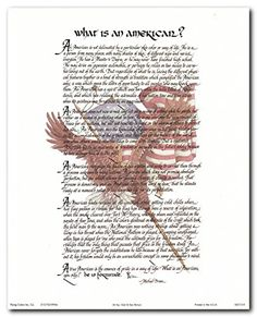 Create bold and beautiful home decor interior with this wonderful what is an American quote picture art print poster. This poster depicts the sentiments of patriotism. This poster will be a great addition for those who feel proud of the place in which they live. This wonderful wall art spared a message that all American should live together. Your guests will definitely compliment you for your excellent taste in home accessories.