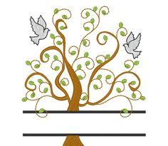 Family tree and mini font – machine...