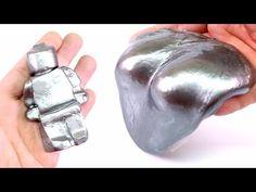 DIY STEEL SLIME ! How To Make Super Gloss Metal Slime - MonsterKids - YouTube