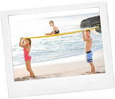 beach family photo ideas-but with a skim board and not so HIGH!
