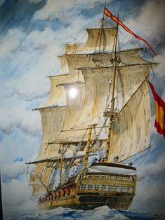In choosing a sailboat, many people find it difficult to know where to start. Sailboat Art, Nautical Art, Pirate Art, Pirate Life, Classic Sailing, Ship Of The Line, Ship Paintings, Remo, Wooden Ship