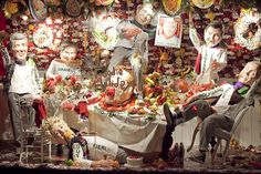 just another dinner party with friends,pinned by Ton van der Veer