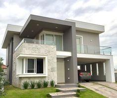 Bungalow Haus Design, Modern Bungalow House, Duplex House Design, Home Room Design, Dream Home Design, Modern Exterior House Designs, Modern Small House Design, Modern House Facades, House Outside Design