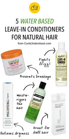 """5 Water Based Leave-In Conditioners for Natural Hair """" Hair Care, You can throw out your unnatural conditioners, hair serum, and styling products, and replace them with this coconut oil which is an all-natural proble. Pelo Natural, Natural Hair Tips, Natural Hair Growth, Natural Hair Journey, Natural Hair Styles, Natural Hair Care Products, Natural Hair Regimen, Natural Curls, Beauty Products"""