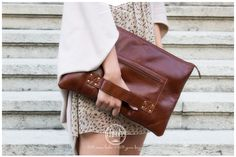 "Leather 15"" laptop case #clutch #shoulder #bag by Chivote www.chivote.com"