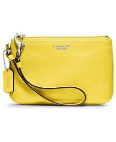 COACH LEGACY LEATHER SMALL WRISTLET - Wallets & Wristlets - Handbags & Accessories - Macy's