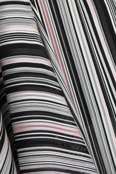 Giambattista Valli - Crepe-trimmed Striped Silk-satin And Chiffon Skirt - Black - IT44