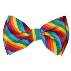 Amazon.com: Pre-tied Bow Tie in Coool Brand Gift Box- Rainbow: Clothing