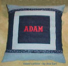 denim pillow to go with denim quilt