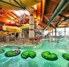 Great Wolf Lodge, indoor water park.  There are 12 in the US.  Take me now!