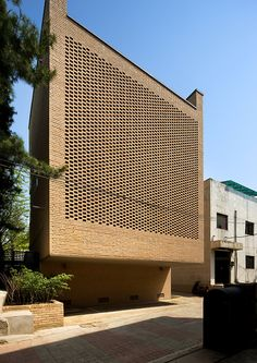 The West Village / Doojin Hwang Architects - A unique brick pattern was used as a visual filter to screen the view of the building in front while allowing sunlight in. Brick Architecture, Contemporary Architecture, Architecture Details, Installation Architecture, Brick Building, Building Design, Brick Detail, Brick Facade, Brick Patterns