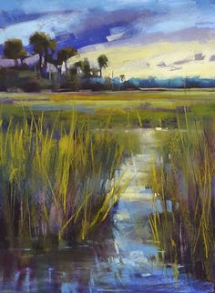 'Listen to the Marsh Music' 18x24 pastel on Uart 600 ©Karen Margulis sold Choices are great. But sometimes too...