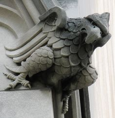 Eagle Gargoyle at the National Cathedral, Washington, DC. By Victoria Pickering (flickr).