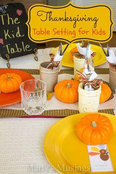 Thanksgiving Table Setting for Kids - Marty's Musings #BEHRDIYExpert