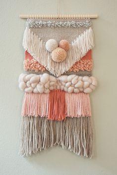 Wanddeko – Handwoven tapestry AVA – a designer piece of wednesdayweaving at… – Linda loves… DIY & Deko – weberei Weaving Wall Hanging, Weaving Art, Tapestry Weaving, Loom Weaving, Hand Weaving, Wall Hangings, Weaving Projects, Weaving Techniques, Loom Knitting
