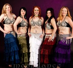 Moondance Bellydance Costumes & Accessories.  Layered ruffle skirt.  $39.99 ~M