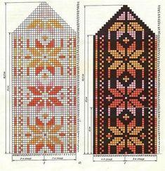 Crochet Mittens Free Pattern, Knit Mittens, Knitted Gloves, Knitting Socks, Knitting Charts, Knitting Stitches, Knitting Patterns, Fair Isle Pattern, Fair Isle Knitting