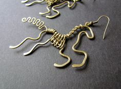 Wire Wrapped Horse Earrings