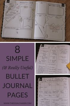 Bullet Journal Page Ideas that are really useful!