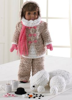 Winter Fun American Girl Doll Crochet Pattern PDF