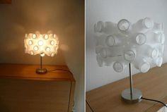 lampara única Yogurt Cups, Cool Diy, Upcycle, Recycling, Sweet Home, Diy Crafts, Cool Stuff, Lighting, Simple