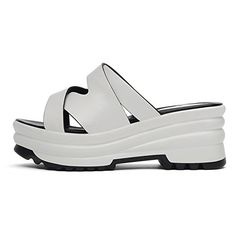 Summer Womens Outdoor Beach Sandals Flat Casual Sandals White 37US >>> Details can be found by clicking on the image.