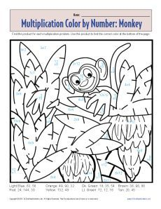 math worksheet : freebie! math fact color by number multiplicationision  : Multiplication Worksheets By Number