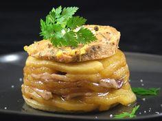 Recette de Tatin de magret de canard au foie gras - Marmiton