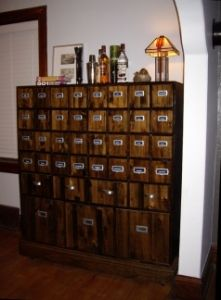 I Want An Apothecary Table... Possibly From Pottery Barn LOL (Allie)